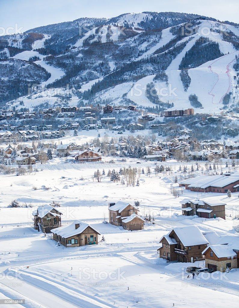 Steamboat Colorado winter stock photo