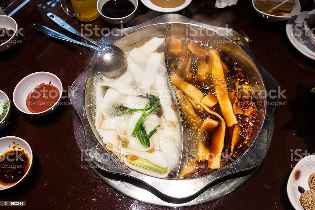 Steamboat feast stock photo