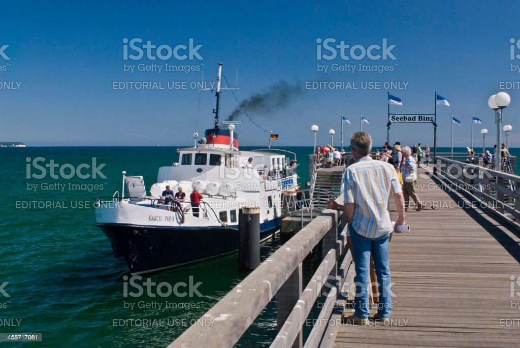 Steamboat in Binz, Rugen Island, Germany stock photo