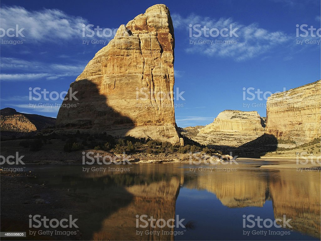 Steamboat Rock at Confluence of the Yampa and Green Rivers royalty-free stock photo
