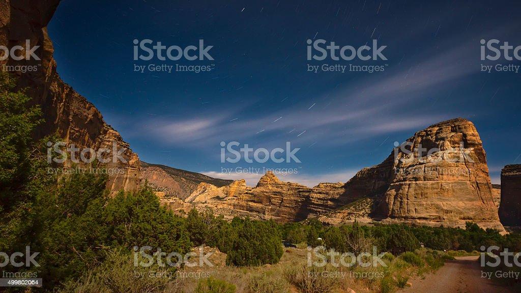 Steamboat Rock, Dinosaur National Monument stock photo