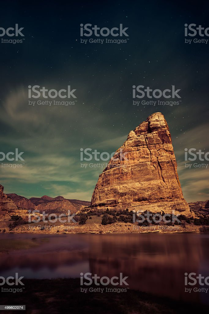 Steamboat Rock, Dinosaur National Monument stock photo