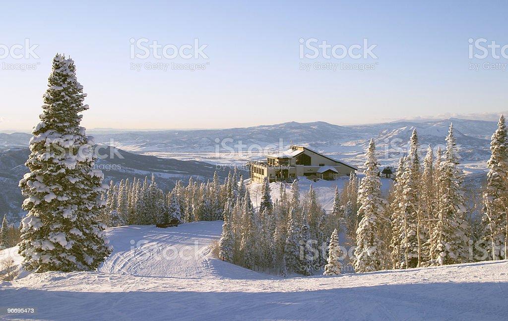 Steamboat ski resort, Colorado royalty-free stock photo