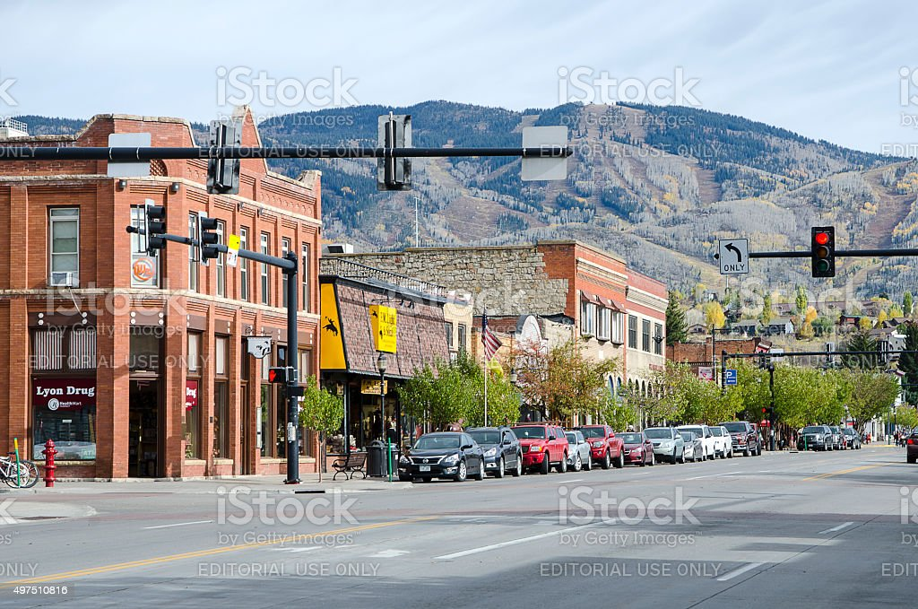Steamboat Springs, Colorado stock photo