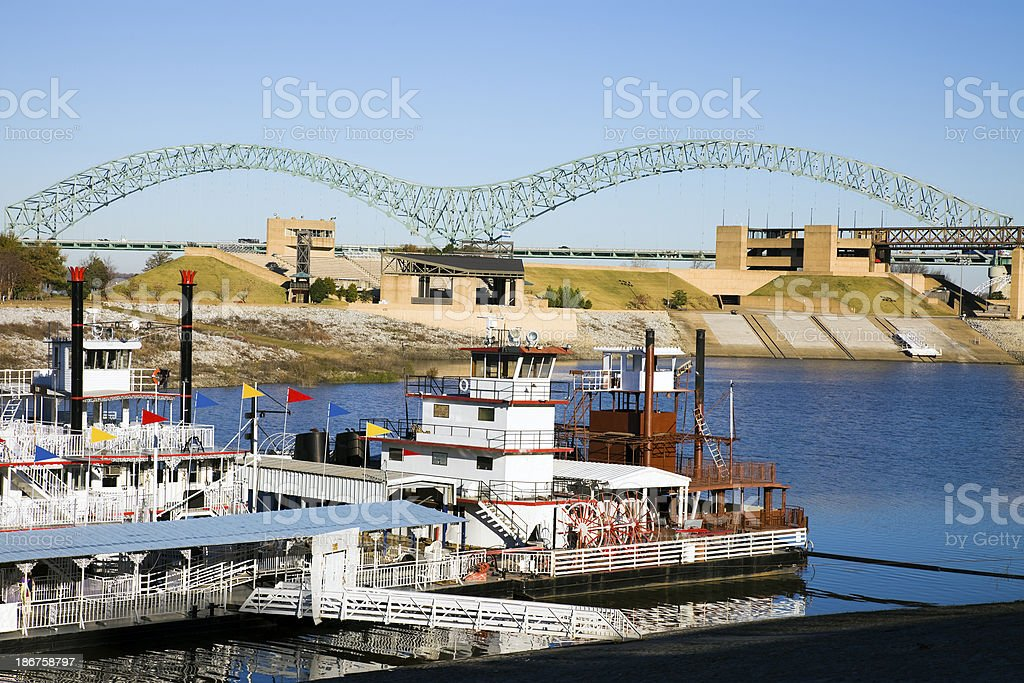 Steamboats on Mississipi stock photo