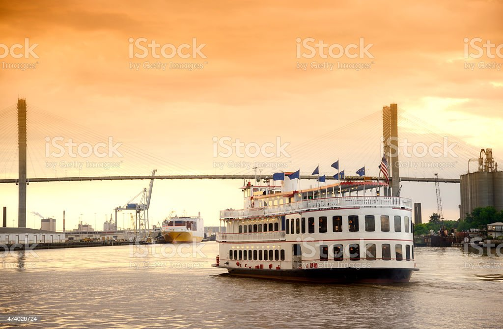 Steamboat,Savannah,Georgia stock photo