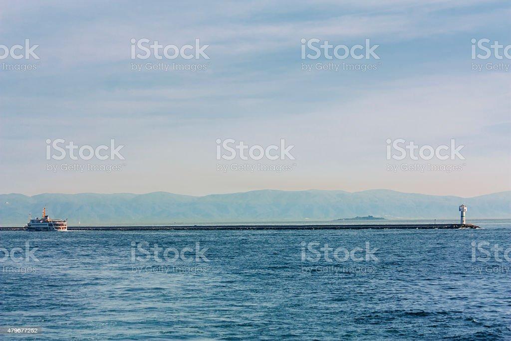 steambot sailing, tourism travel destination stock photo
