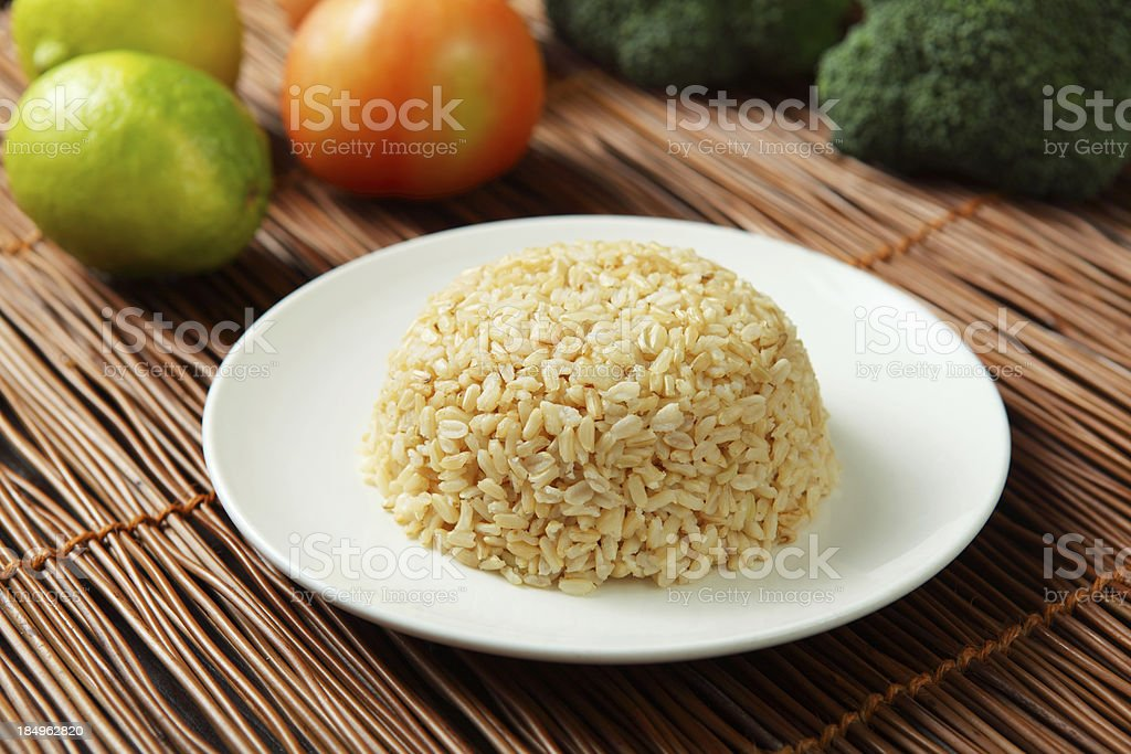 Steamed Brown Rice stock photo