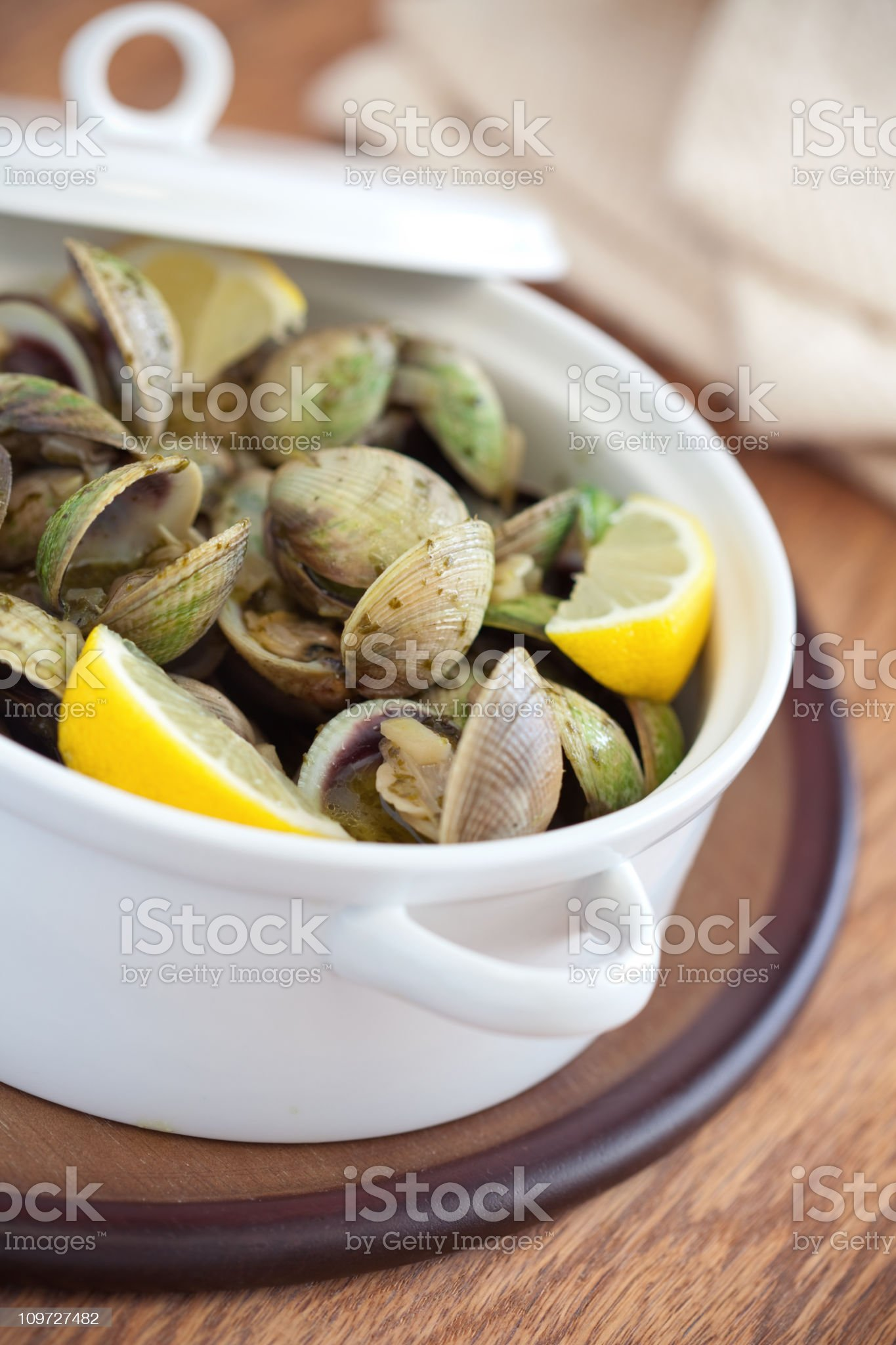 Steamed Clams royalty-free stock photo