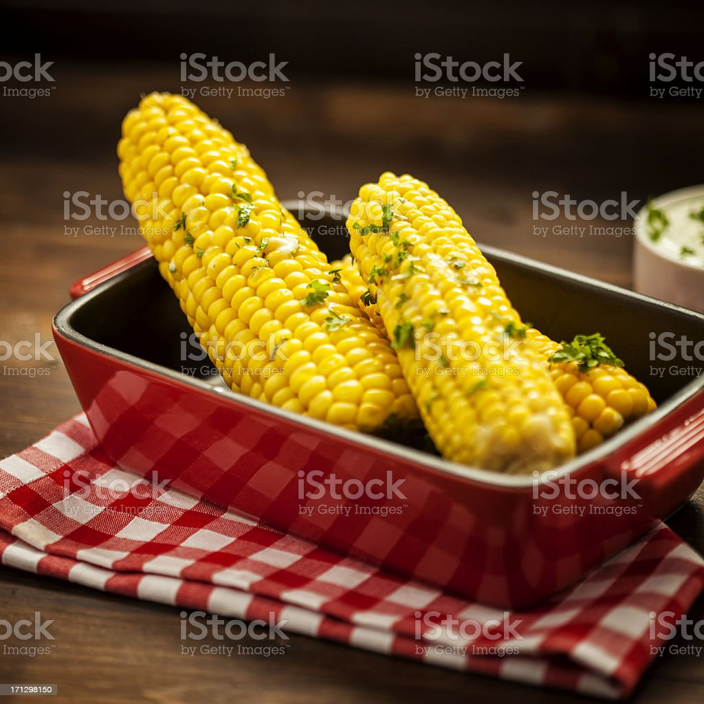 Steamed Corn stock photo