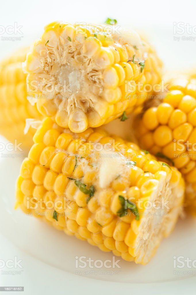 Steamed Corn royalty-free stock photo
