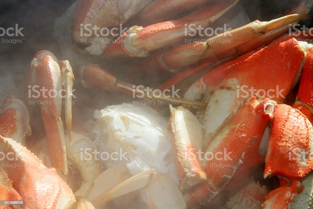 Steamed Crabs stock photo