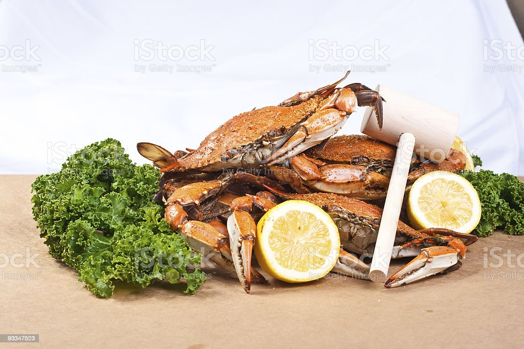 Steamed Crabs royalty-free stock photo