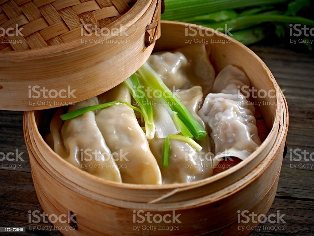 Steamed Dumpling royalty-free stock photo