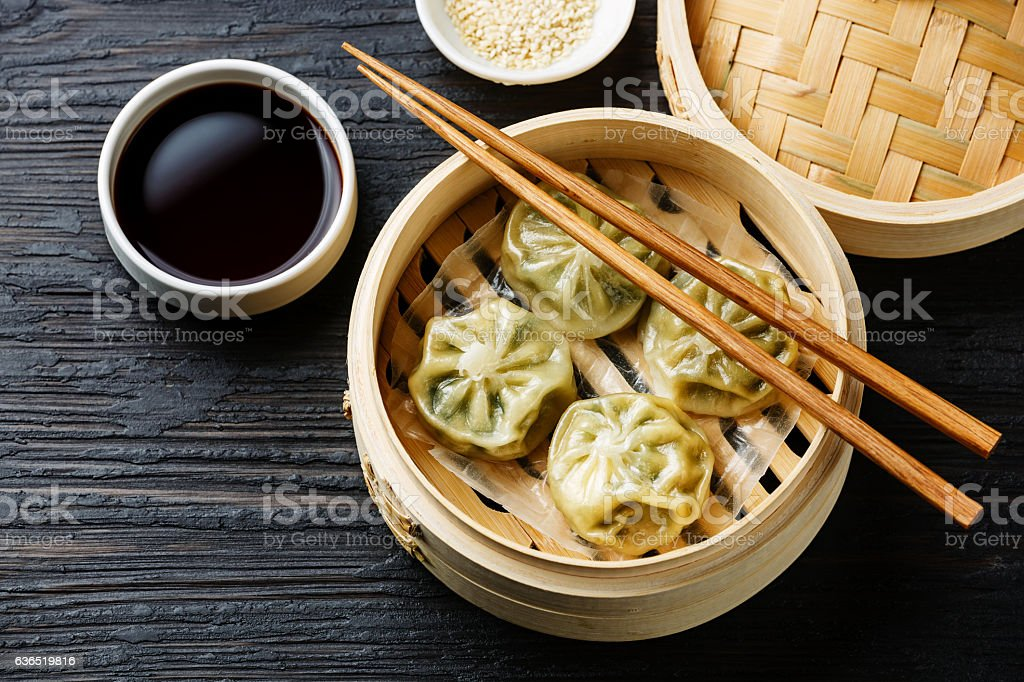 Steamed dumplings Dim Sum stock photo