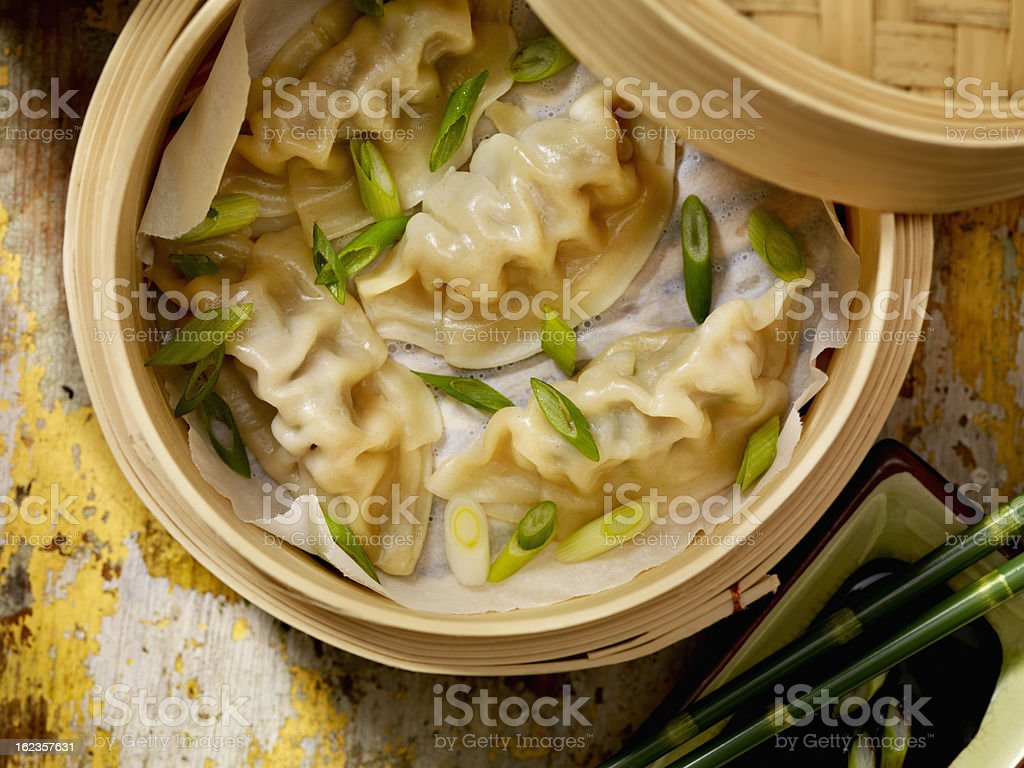 Steamed Dumplings stock photo