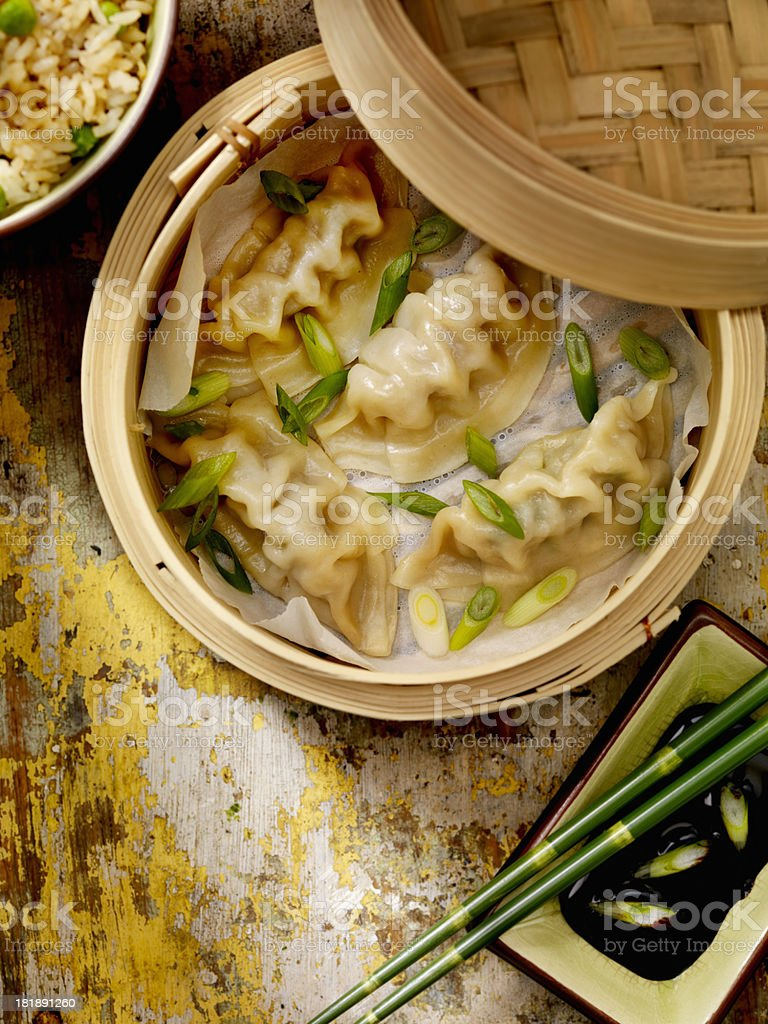 Steamed Dumplings stock photo