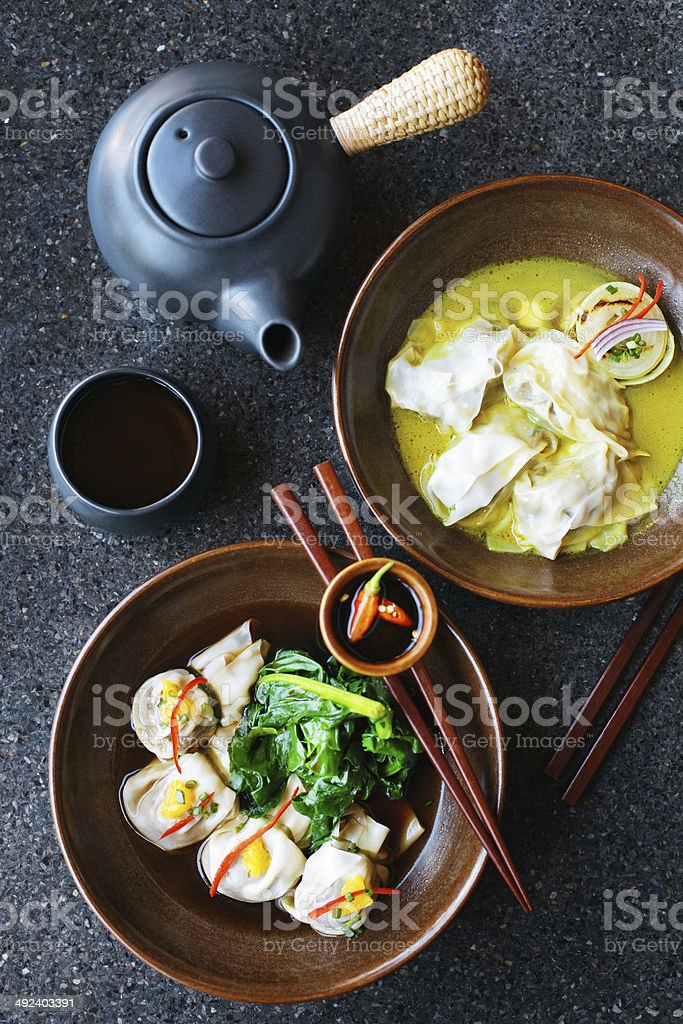 Steamed dumplings royalty-free stock photo