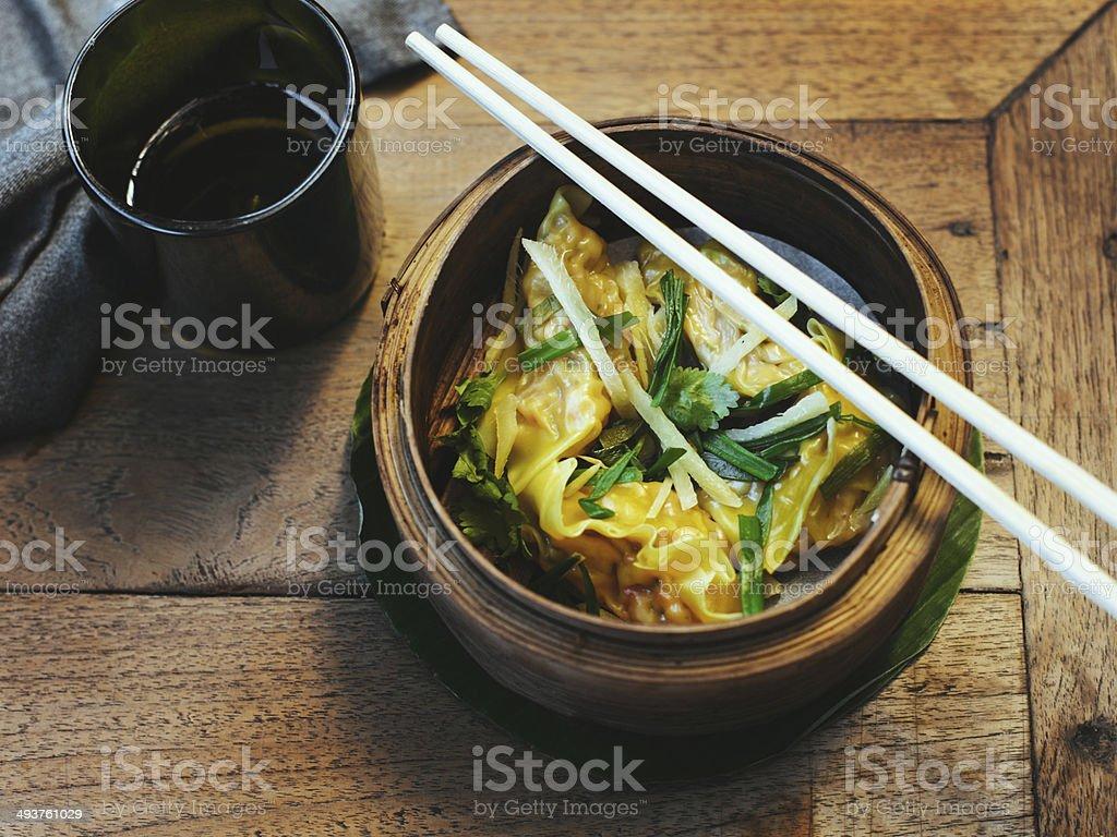 Steamed dumplings royalty-free stock photo