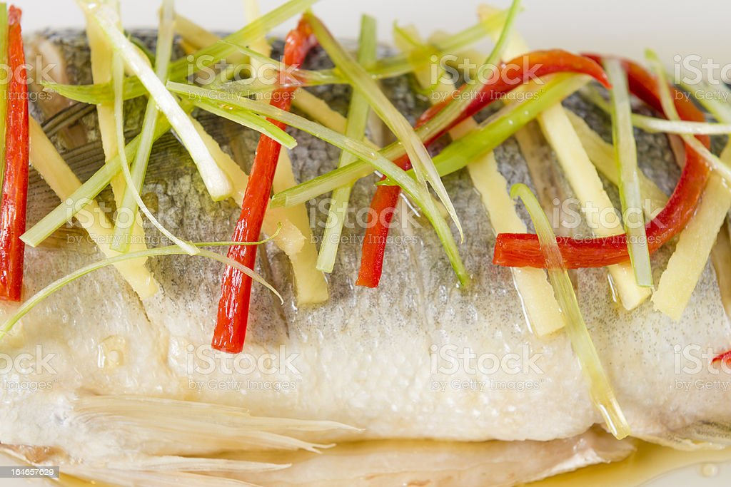 Steamed Fish (蒸魚) royalty-free stock photo
