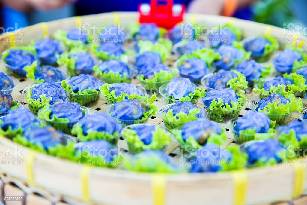 Steamed Flower Shaped Dumplings stock photo