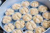 Steamed muffin breads