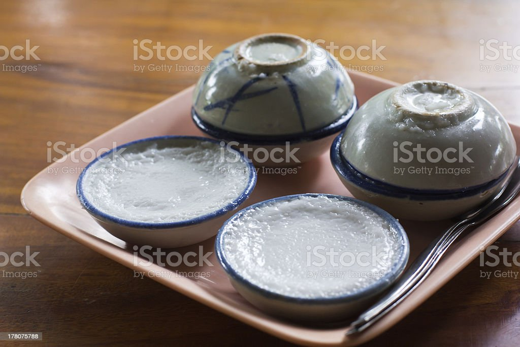 Steamed pandanus cake royalty-free stock photo