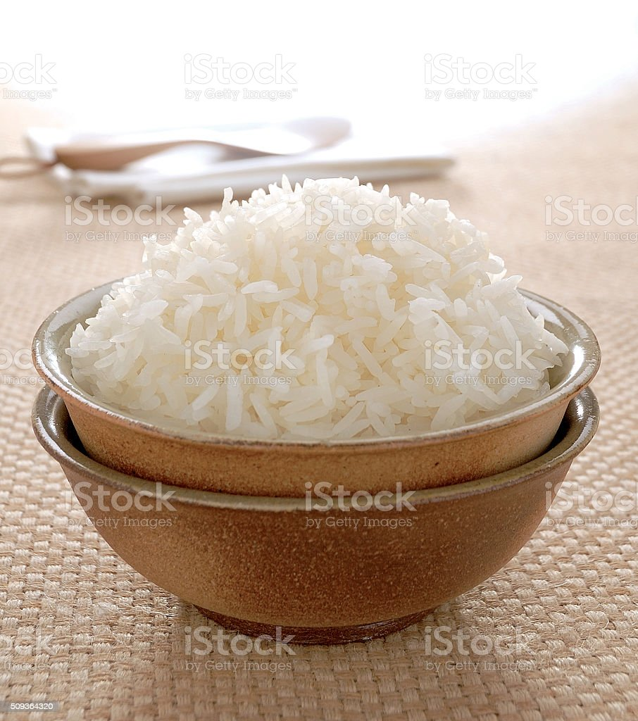 Steamed Rice stock photo