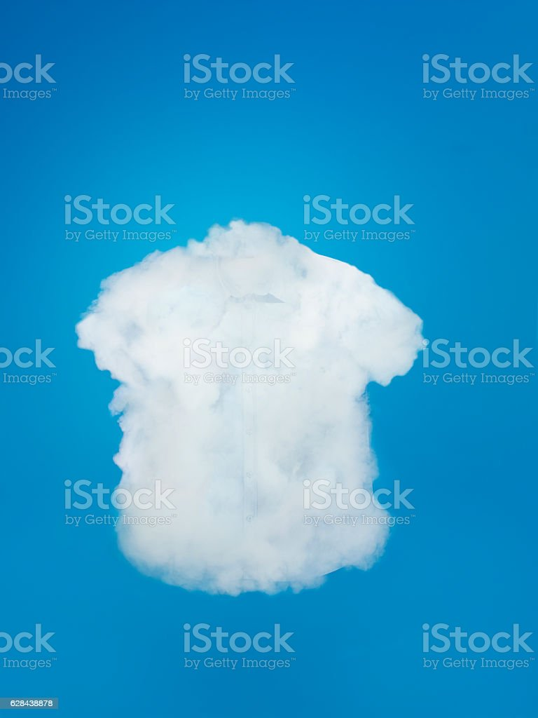 steamed shirt stock photo