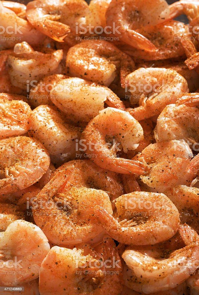 Steamed Shrimp royalty-free stock photo