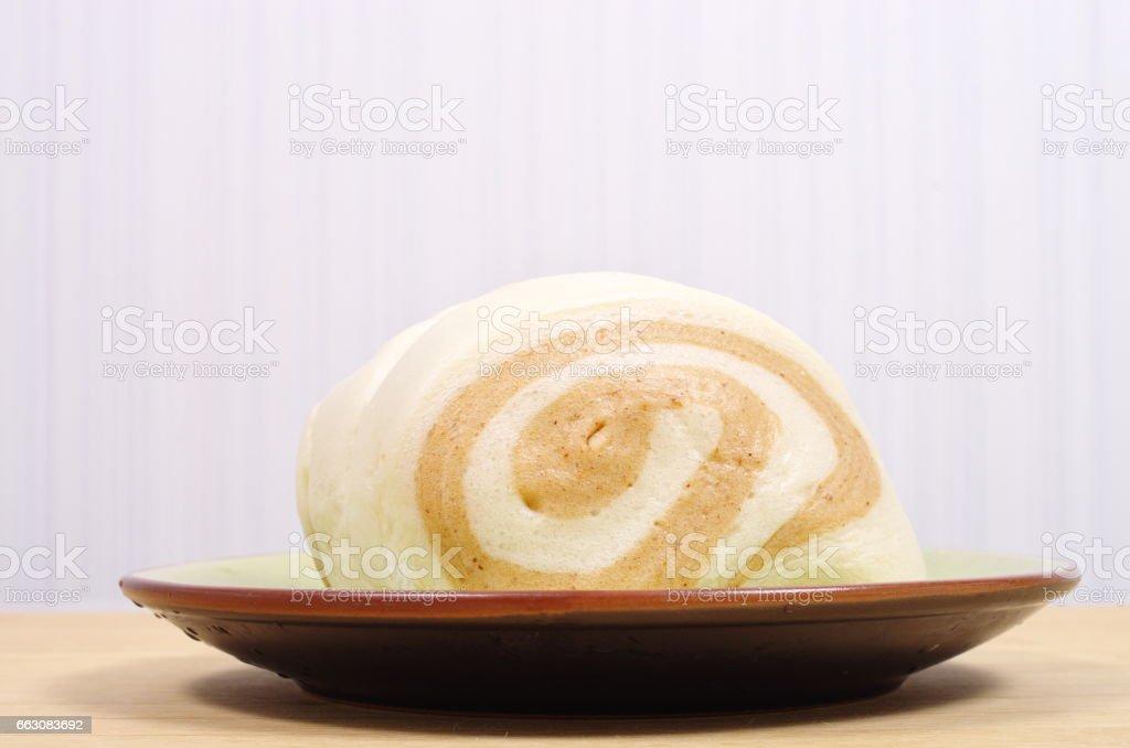 Steamed stuffed bun stock photo