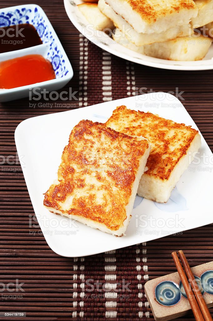 Steamed turnip cake stock photo