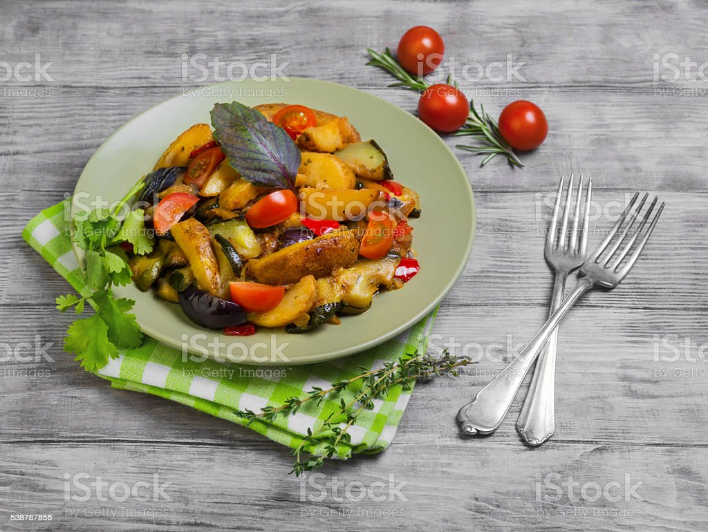 Steamed vegetables food photo stock photo