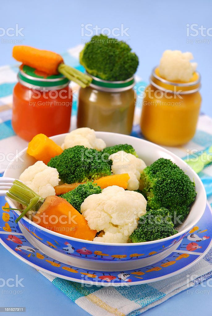 steamed vegetables for baby royalty-free stock photo