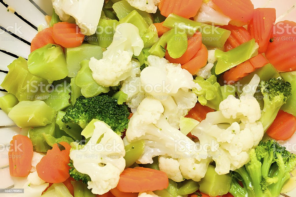 steamed vegetables royalty-free stock photo