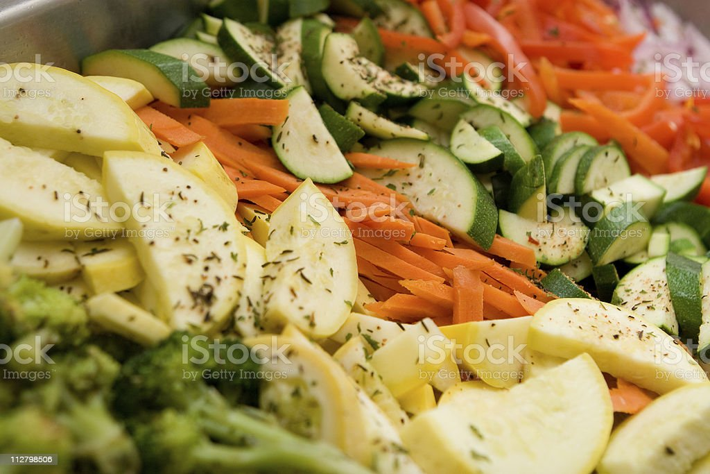 Steamed Vegetables with garnish at catered event royalty-free stock photo