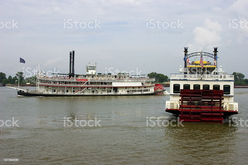 Steamers on the Mississippi River royalty-free stock photo