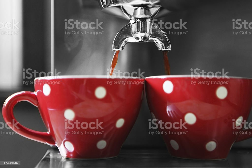 steamig coffee royalty-free stock photo