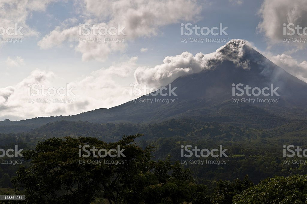 Steaming Arenal Volcano stock photo