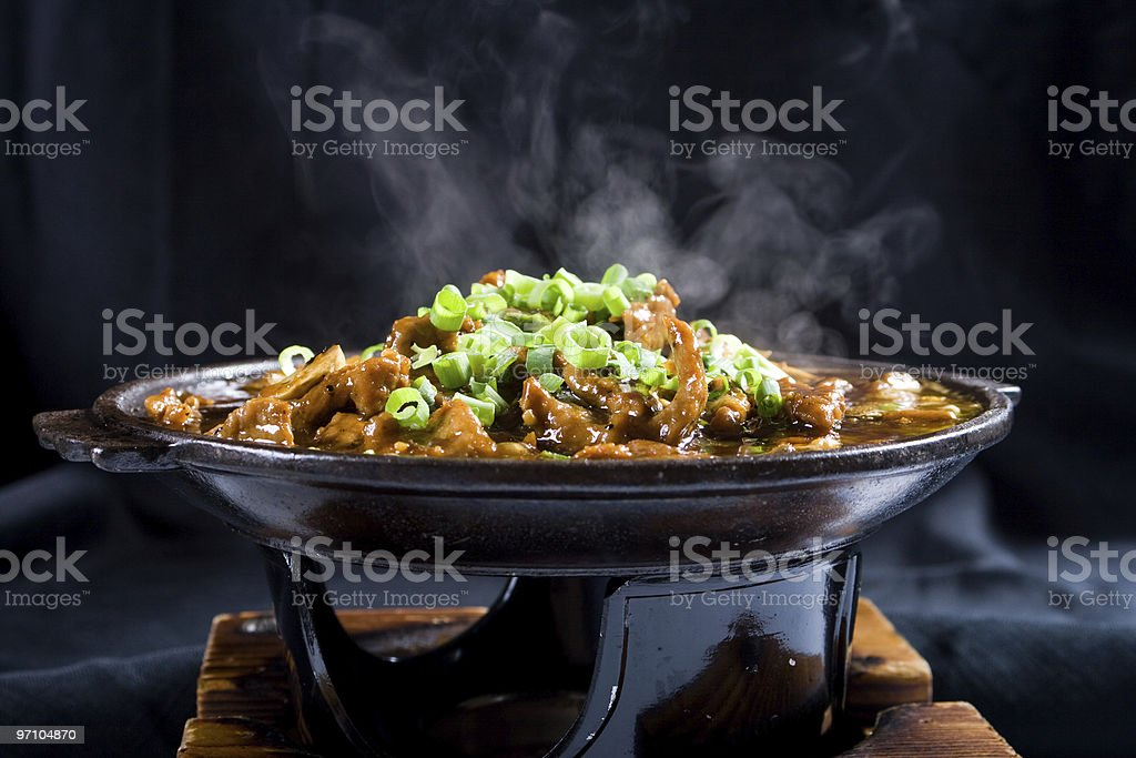 steaming chinese food stock photo