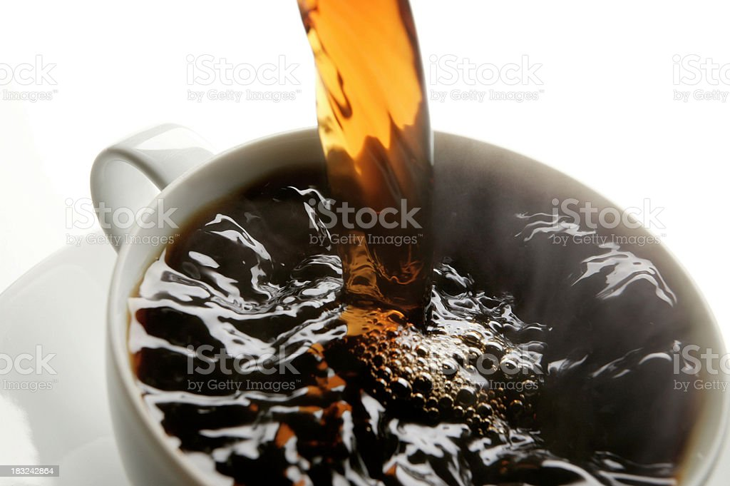 Steaming Cup of Coffee royalty-free stock photo
