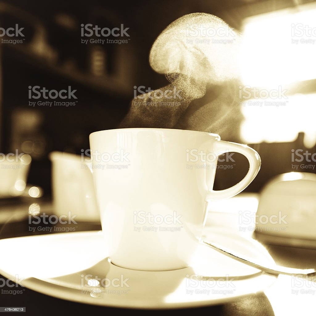 steaming cup royalty-free stock photo