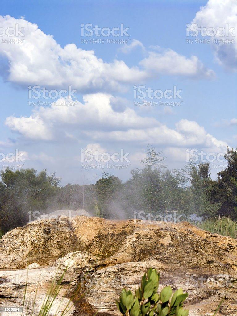 Steaming Geyser royalty-free stock photo