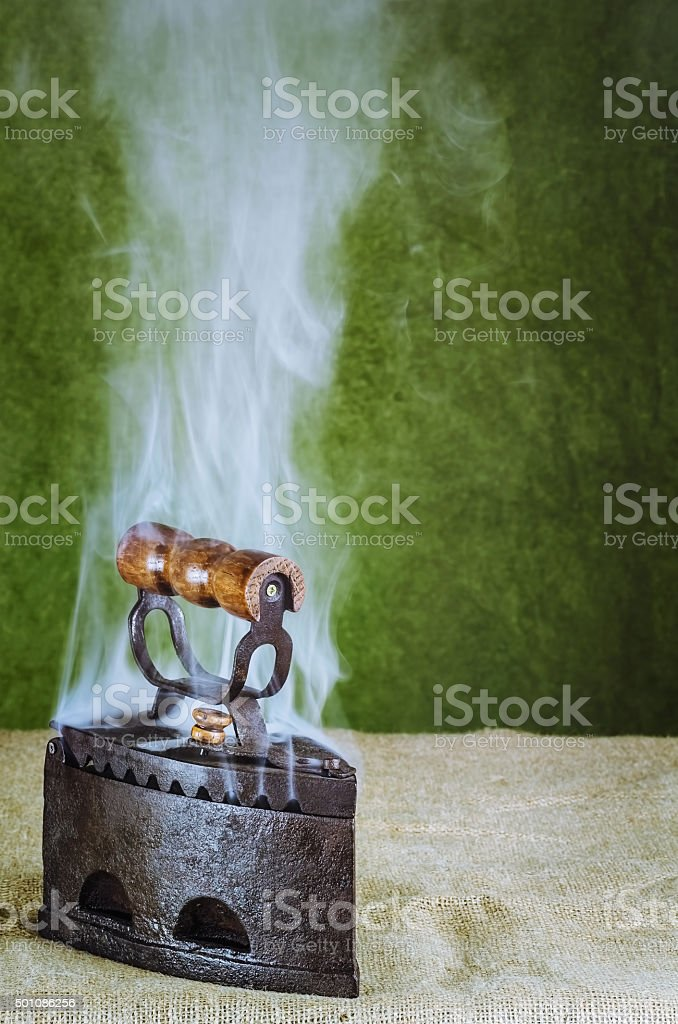 Steaming Hot Iron stock photo