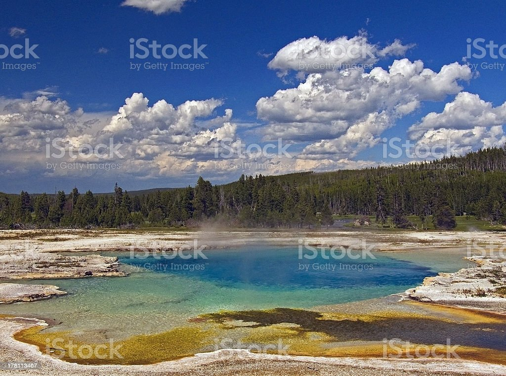 Steaming Hot Spring Pool royalty-free stock photo