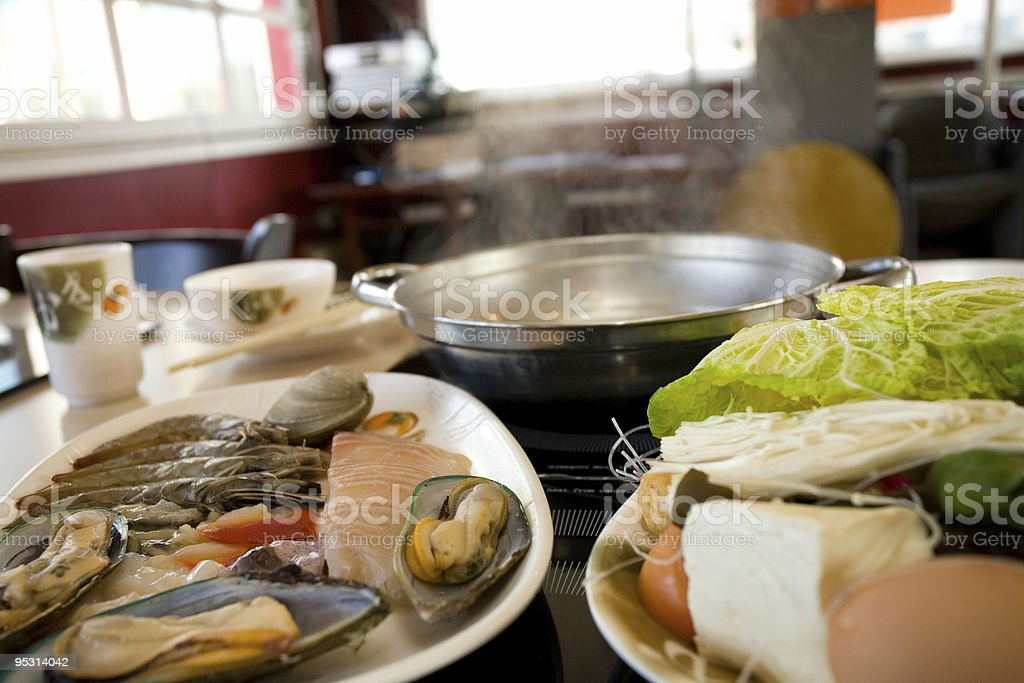 Steaming hotpot royalty-free stock photo