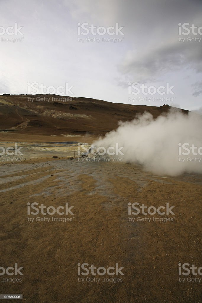 Steaming landscape royalty-free stock photo