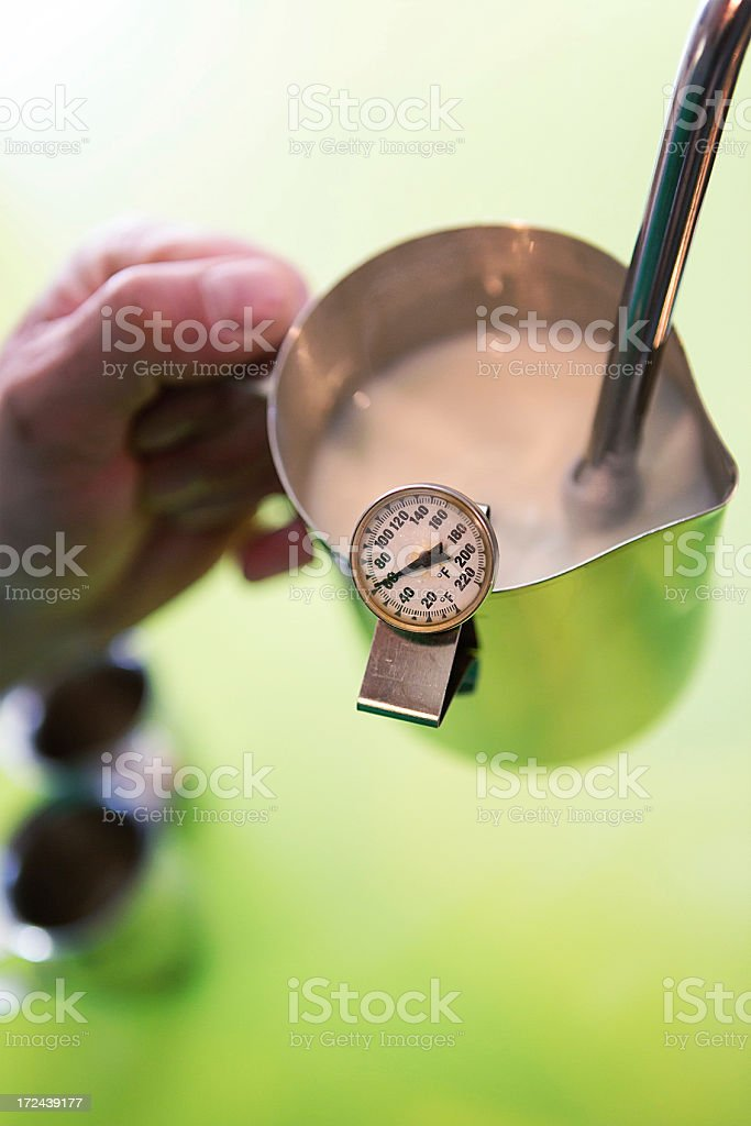 Steaming Milk stock photo
