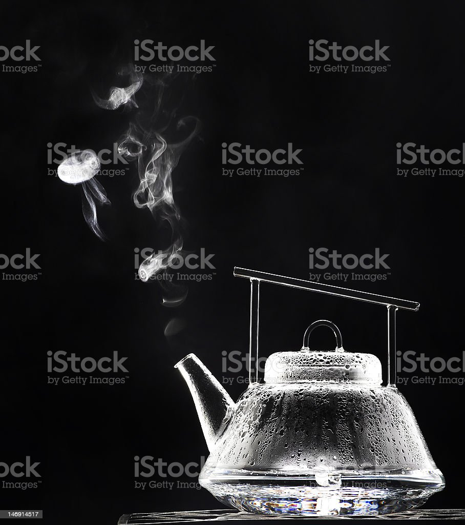 Steaming Tea Pot royalty-free stock photo