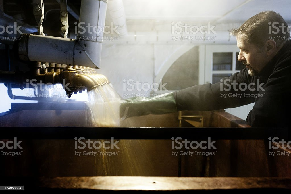 Steaming underback and dissolving vessel stock photo